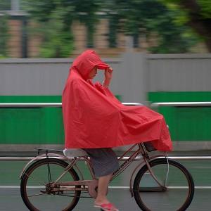 cycling in the rain