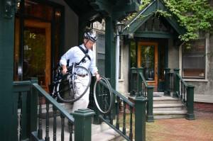 folding bike commuter