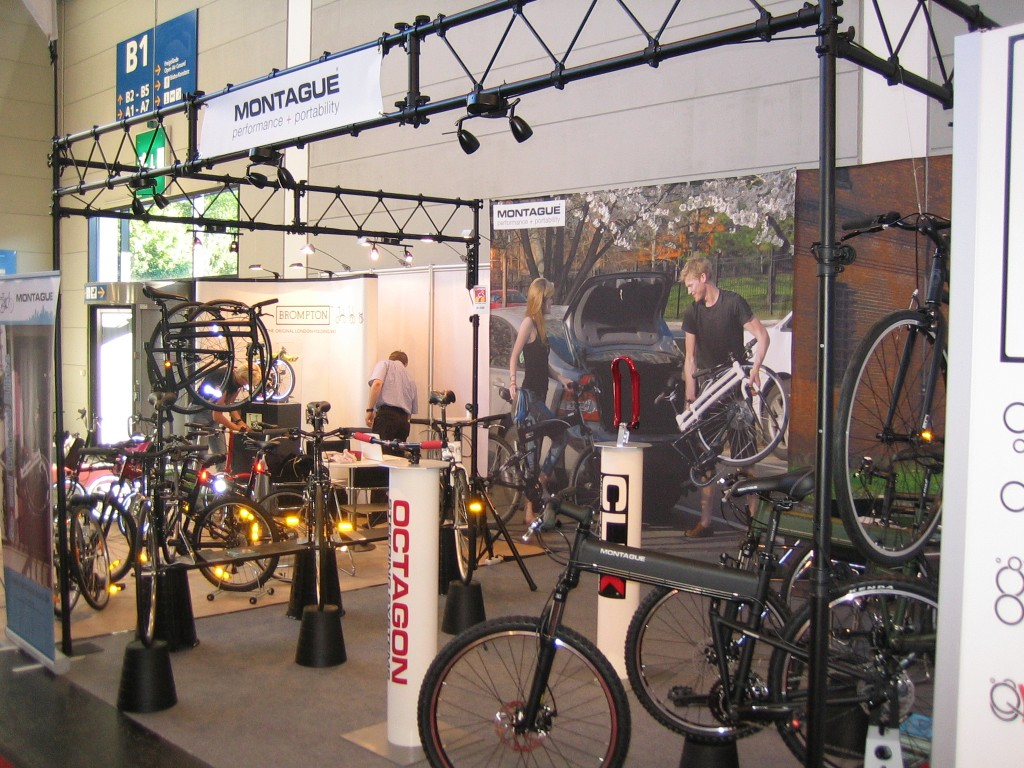 Montague folding bikes booth at Eurobike