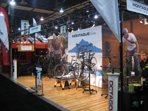 Montague folding bike interbike booth