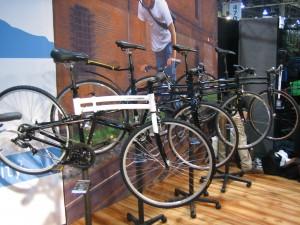 Montague folding bike road line