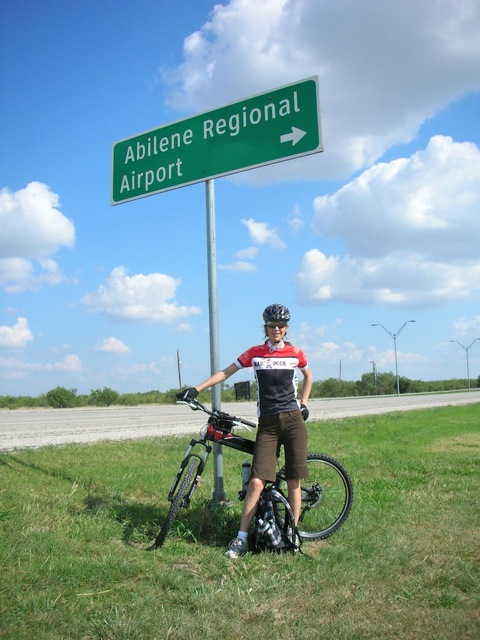 Montague X70 folding bike at Abilene Regional Airport