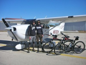 Two Montague X70 folding bike's loading into Cessna