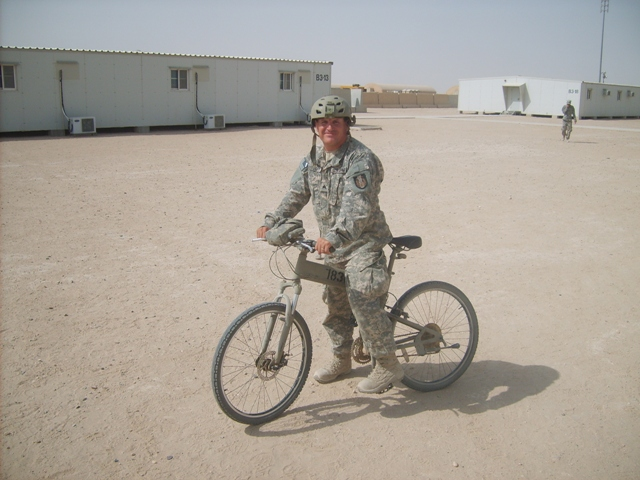 Soldier on Paratrooper folding bike