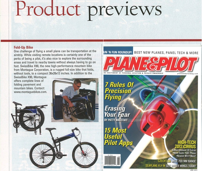 Plane & Pilot Magazine Features Montague Folding Bikes