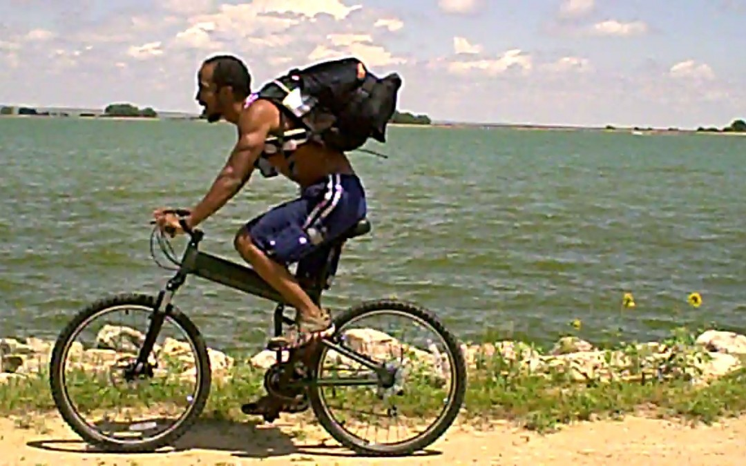 A Truck Driver Triathlete and his Montague Folding Bike