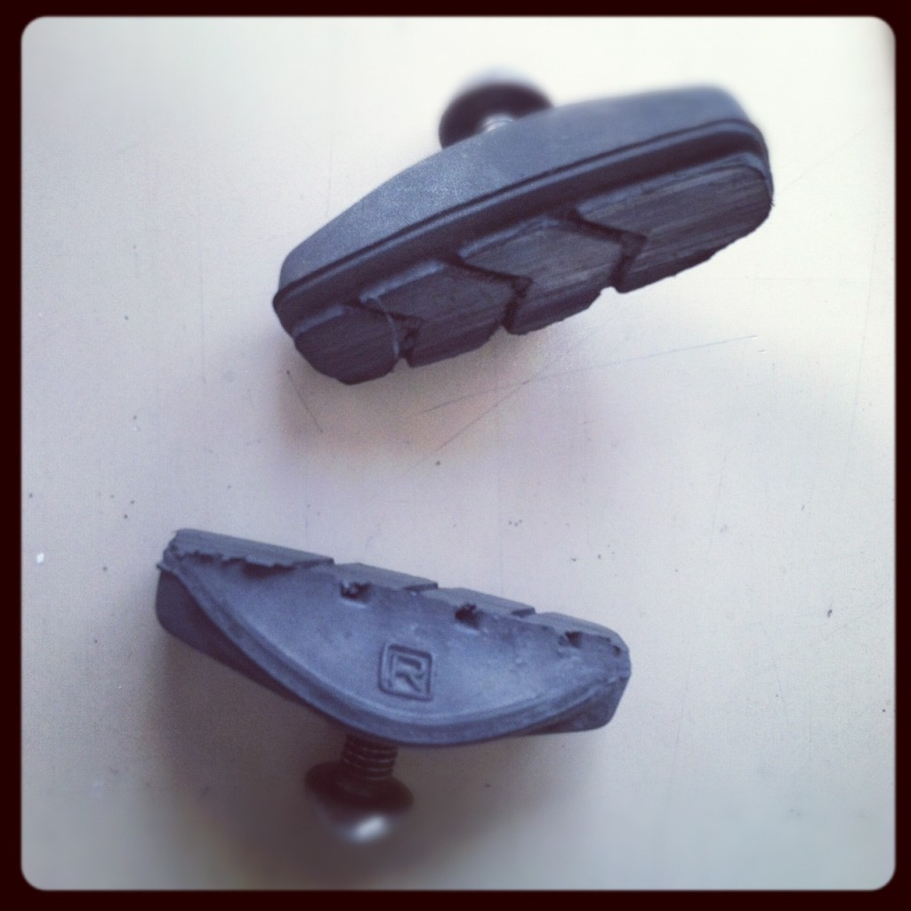 worn out brake shoes