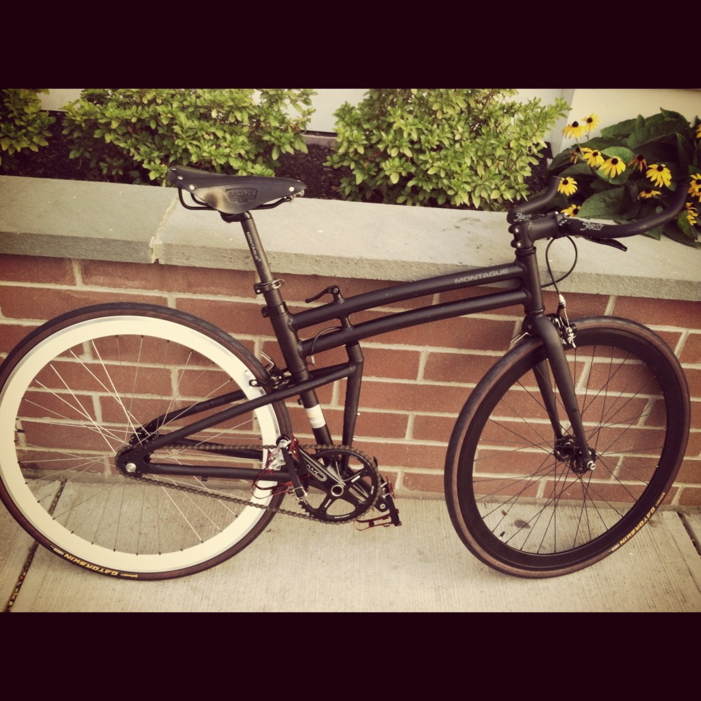 Montague folding bike fixed gear