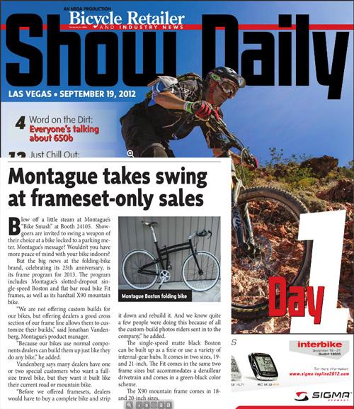 BRAIN daily Interbike 2012 folding frameset feature