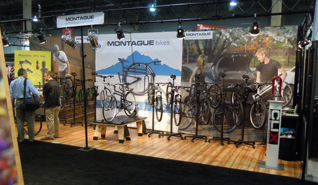 Folding bike booth at Interbike 2011