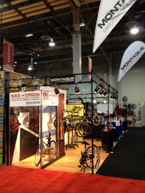 Montague InterBike booth 2012