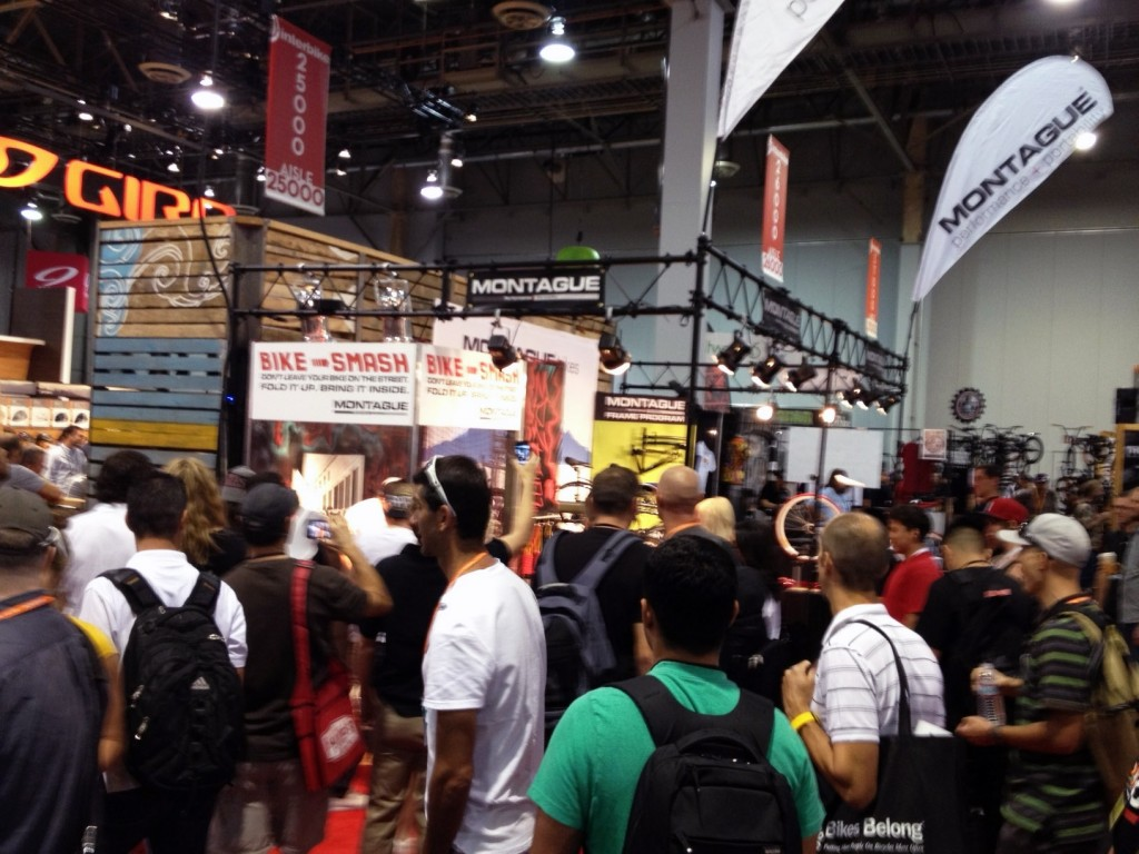 InterBike crowds at Montague booth