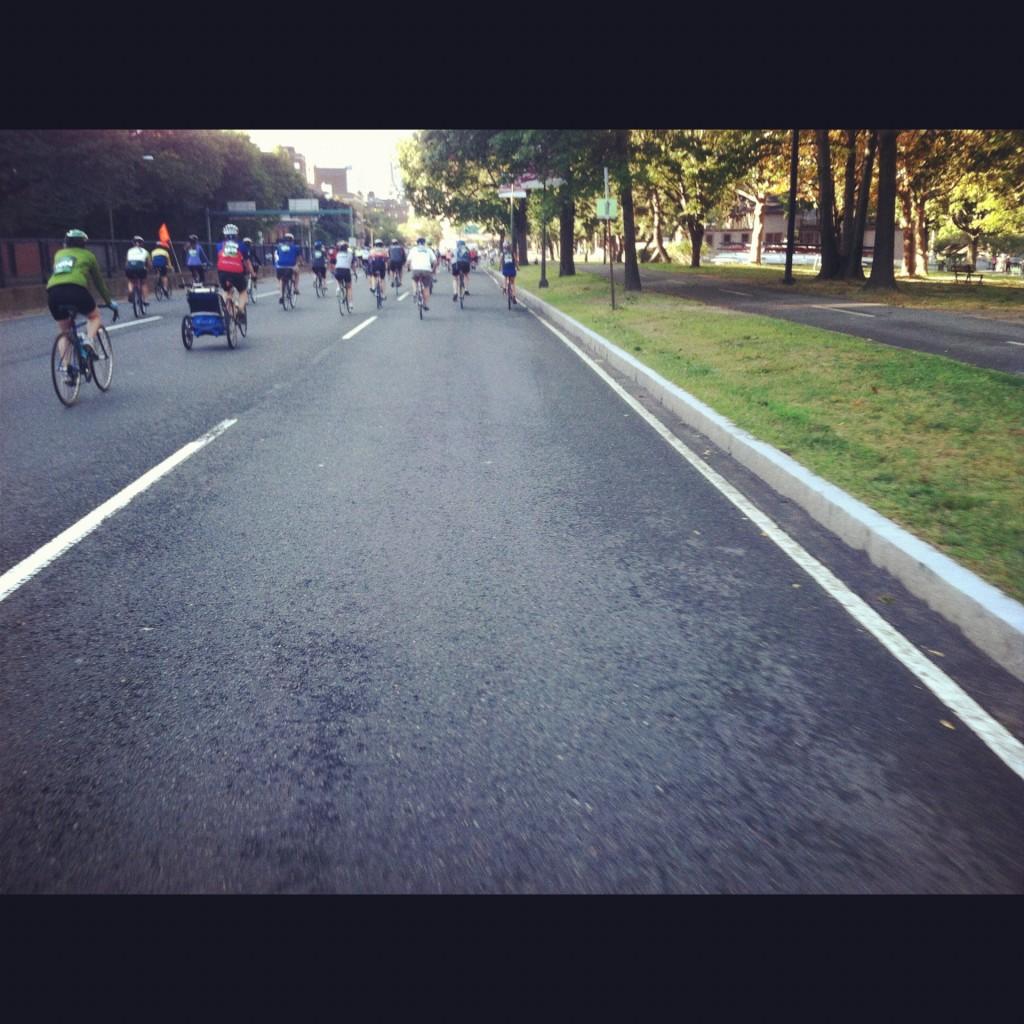 Storrow Drive view from a bike Hub on Wheels