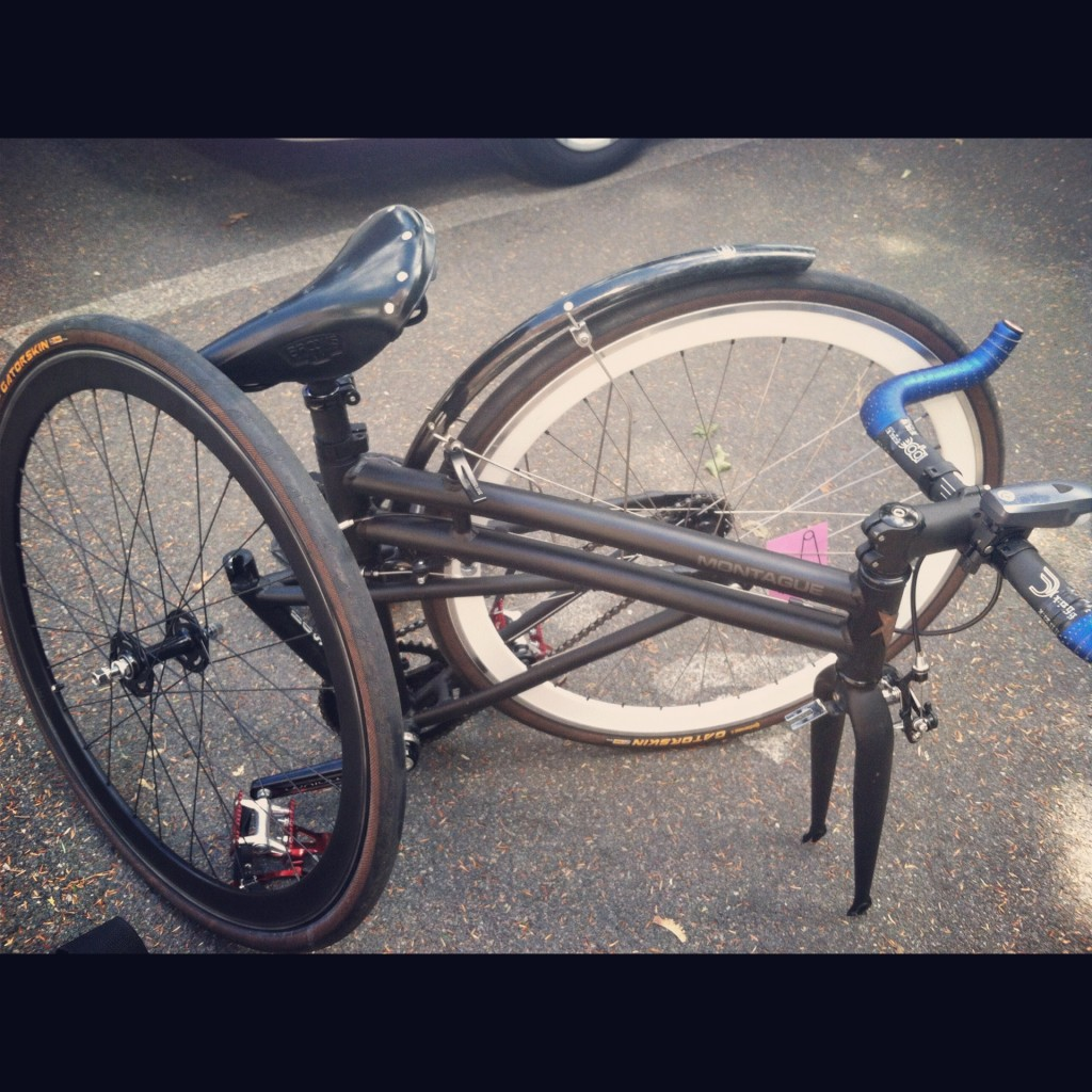 folding bike trip