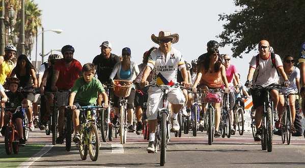 Riding bikes in LA at CicLAvia