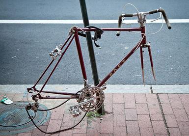 Bike Theft: Fold It Up. Take It Inside.