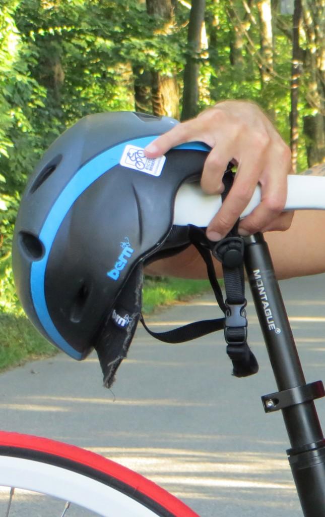 helmet use with folding bike