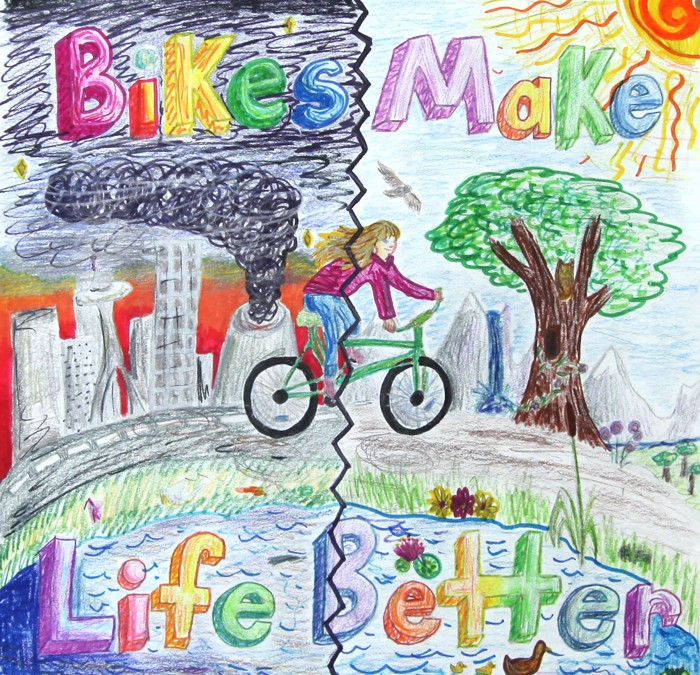 Cycling Poster Contest Sends 5th Grader to Bike Summit