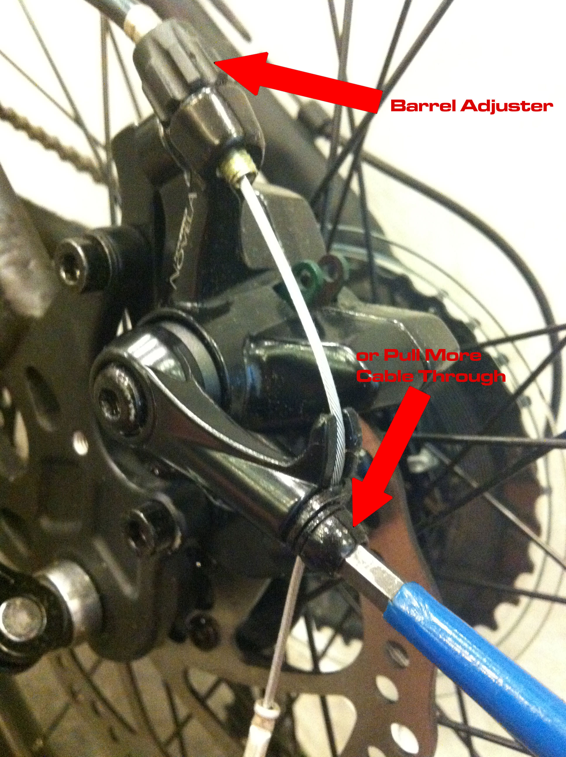 Adjusting Mechanical Disc Brakes Montague Bikes Suspension Wheels And Guides Brake Pads Rear Diagram Img 4464edit