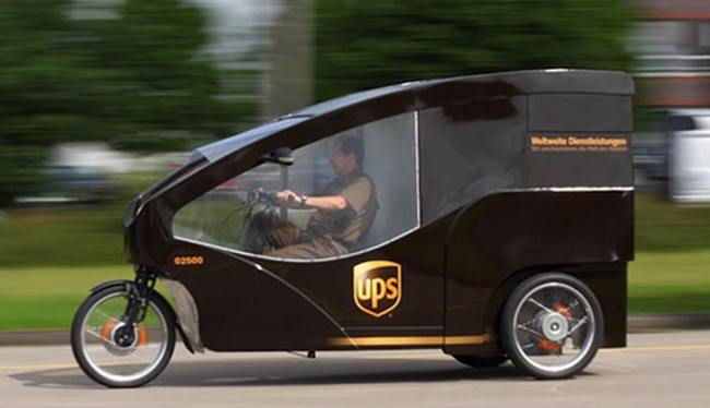 The New Cycle Courier: E-Trikes for UPS