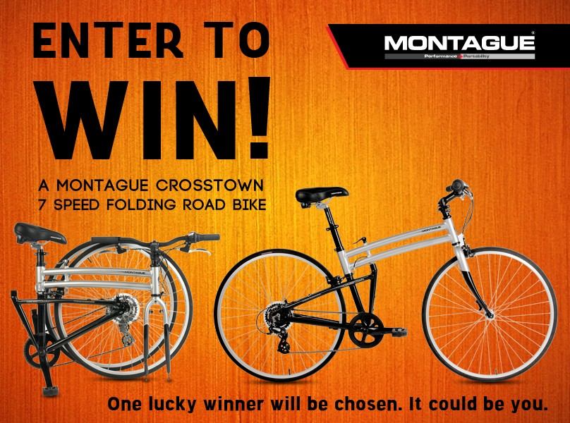 Enter for a Chance to Win a Montague Crosstown Folding Bike!