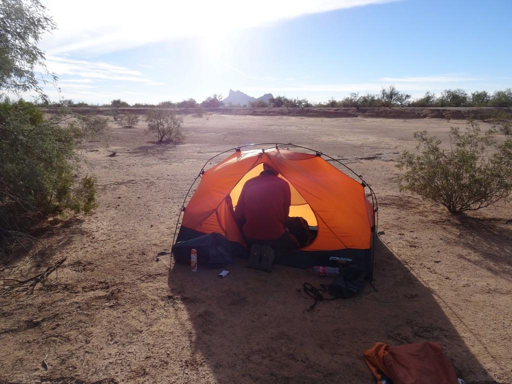 Camping near Mexico Border