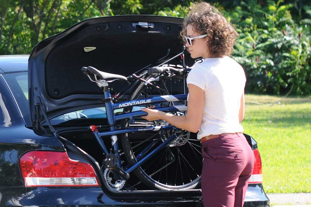 Montague Navigator Folding Bike into Trunk