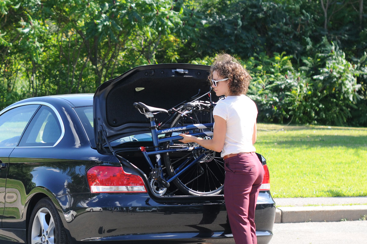 Montague Navigator Folding Bike in Trunk