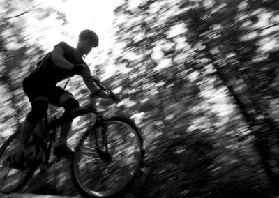 Montague X50 folding bike riding downhill