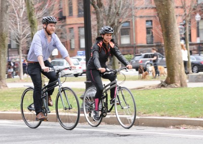 2015 Montague Crosstown and Boston folding bike commuting