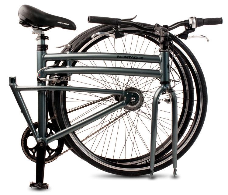 Boston 8 Folding Bike Folded