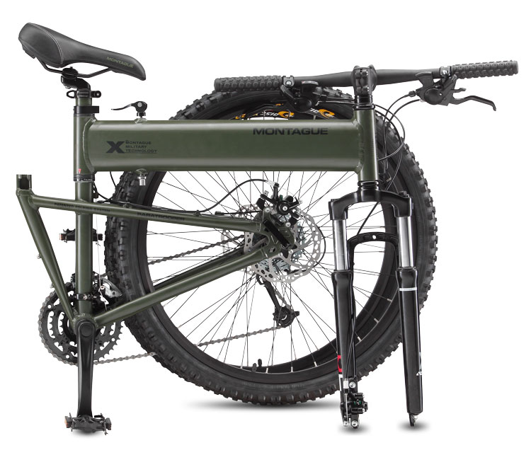 Paratrooper Folding Mountain Bike Folded