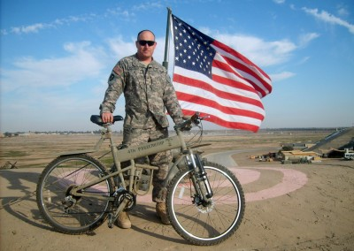 2015 Montague Paratrooper folding bike with the army