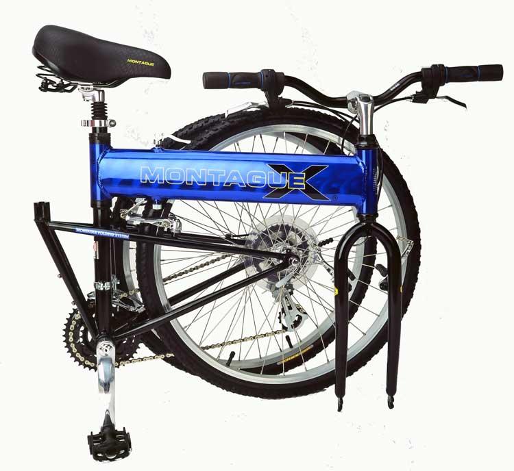 2003 CX Comfort Folding Bike Folded