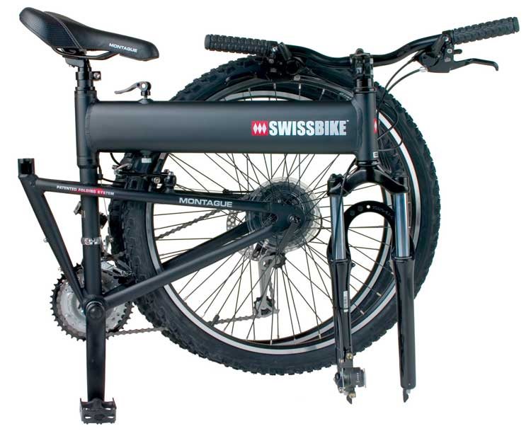 Swissbike LX Folding Bike Folded