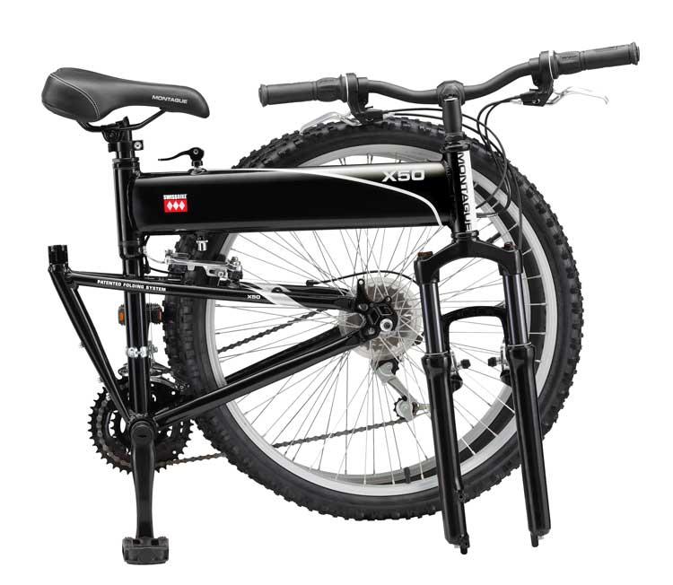 2010 Swissbike X50 Folding Bike Folded