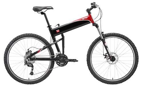 2011 X70 folding bike open