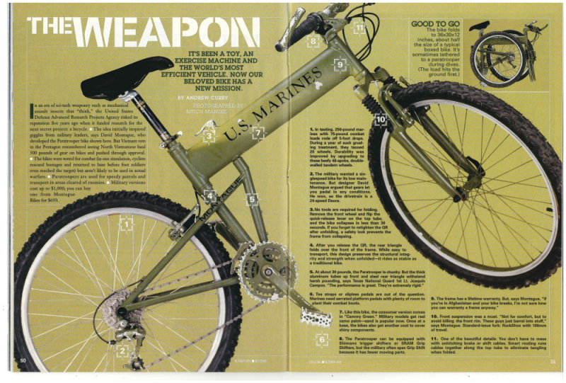 Montague DARPA in Bicycling Mag