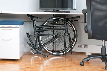 Montague Boston Folding Bike in Office