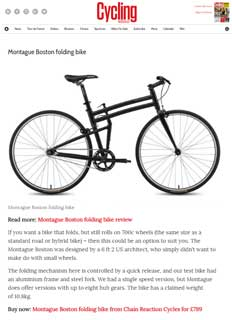 Cycling Weekly Montague Folding Bike Article Thumbnail