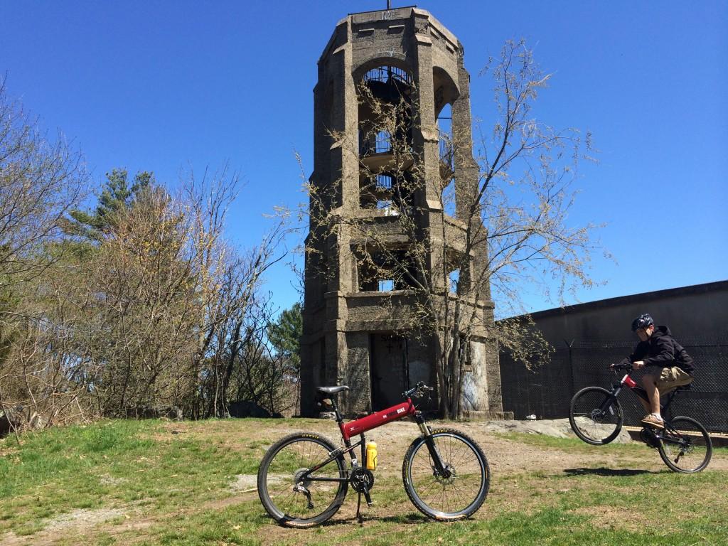 Montague Folding Mountain Bike on Resevoir
