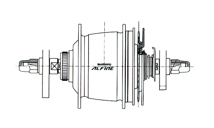 Fig. 54: Alfine rear internal gear hub.