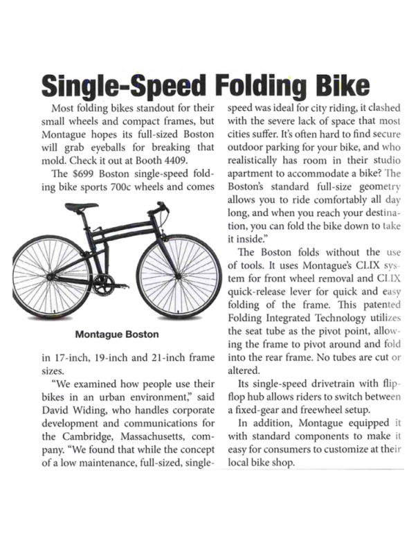Montague in Interbike Show Daily