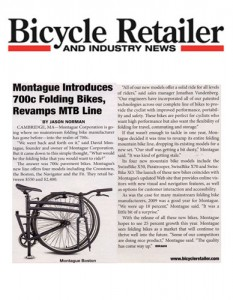 Bicycle Retailer Montague Bikes 700c Article