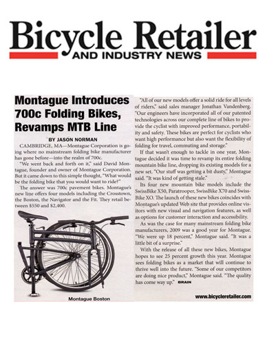 Bicycle Retailer Montague 700c Article