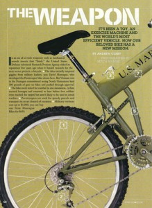 Bicycling Magazine Montague Military Article