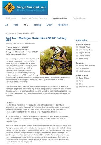 Montague X90 on Bicycles.net.au