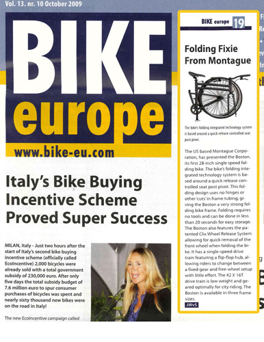 Montague in Bike Europe