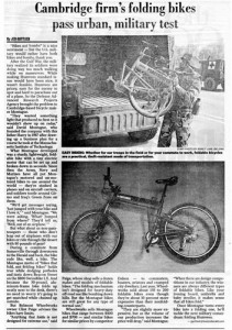 Boston Herald Montague Bikes Military Article