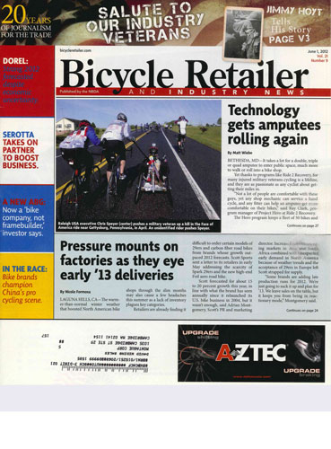 Bicycle Retailer Military Magazine Cover